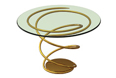 Double Helix Side Table, designed 2009